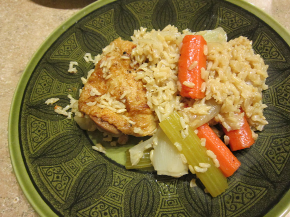 One-Pot Chicken And Brown Rice Recipe — Dishmaps
