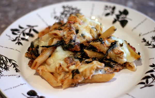 Sausage and Spinach Pasta Bake