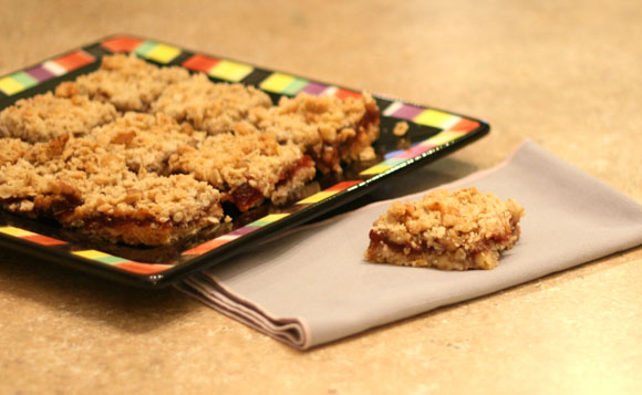 Cranberry Nut Streussel Bars
