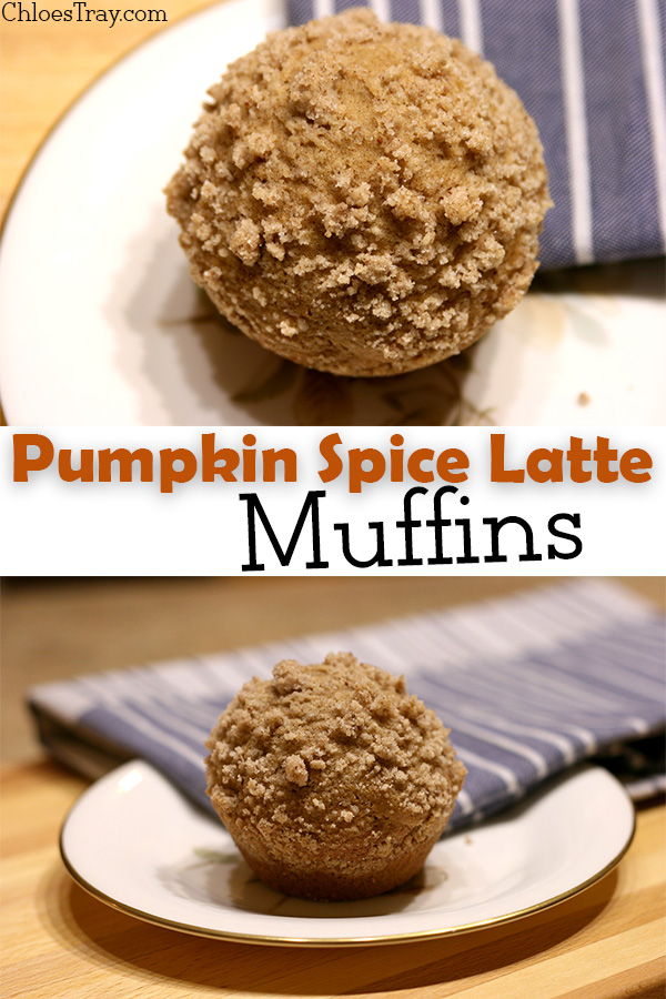 pumpkin spice latte muffin image to share on Pinterest