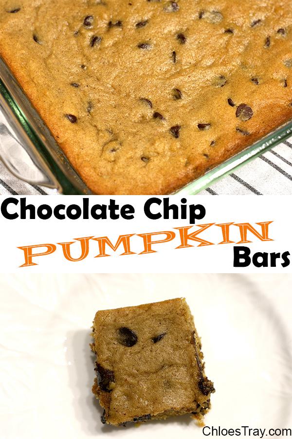 pumpkin bars image for sharing on pinterest
