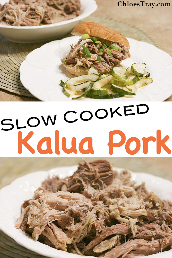 Two pictures of Kalua Pork