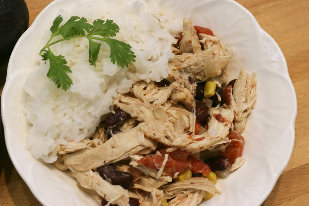 creamy slow cooker Mexican chicken
