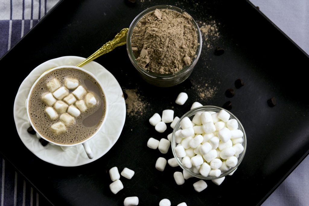 Homemade hot chocolate mix from above