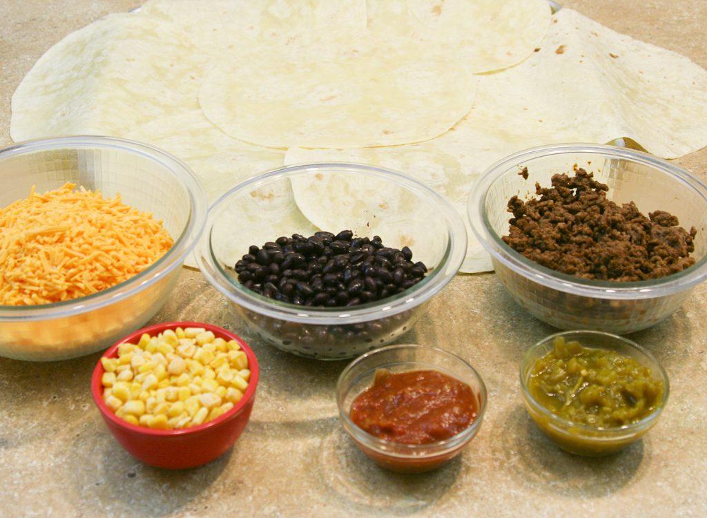 sheet pan quesadilla ingredients