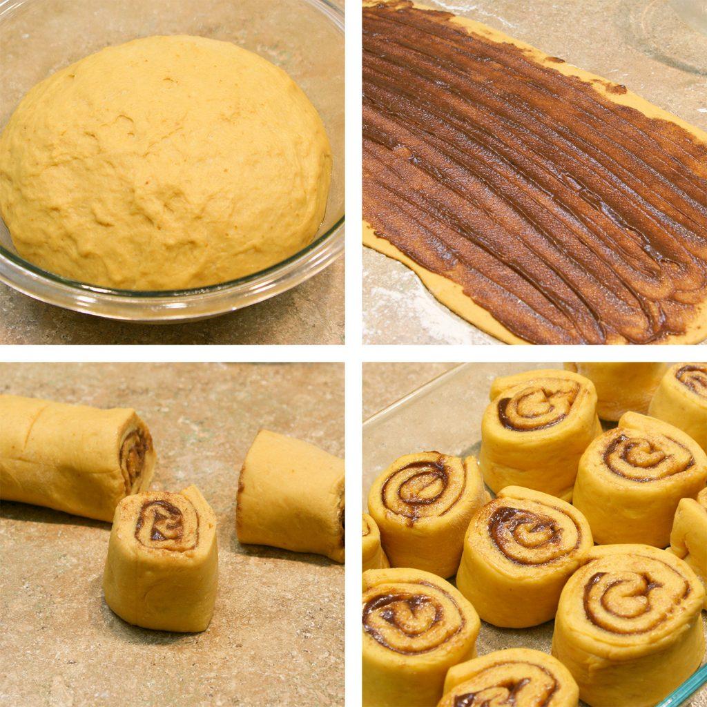 progress of cinnamon rolls