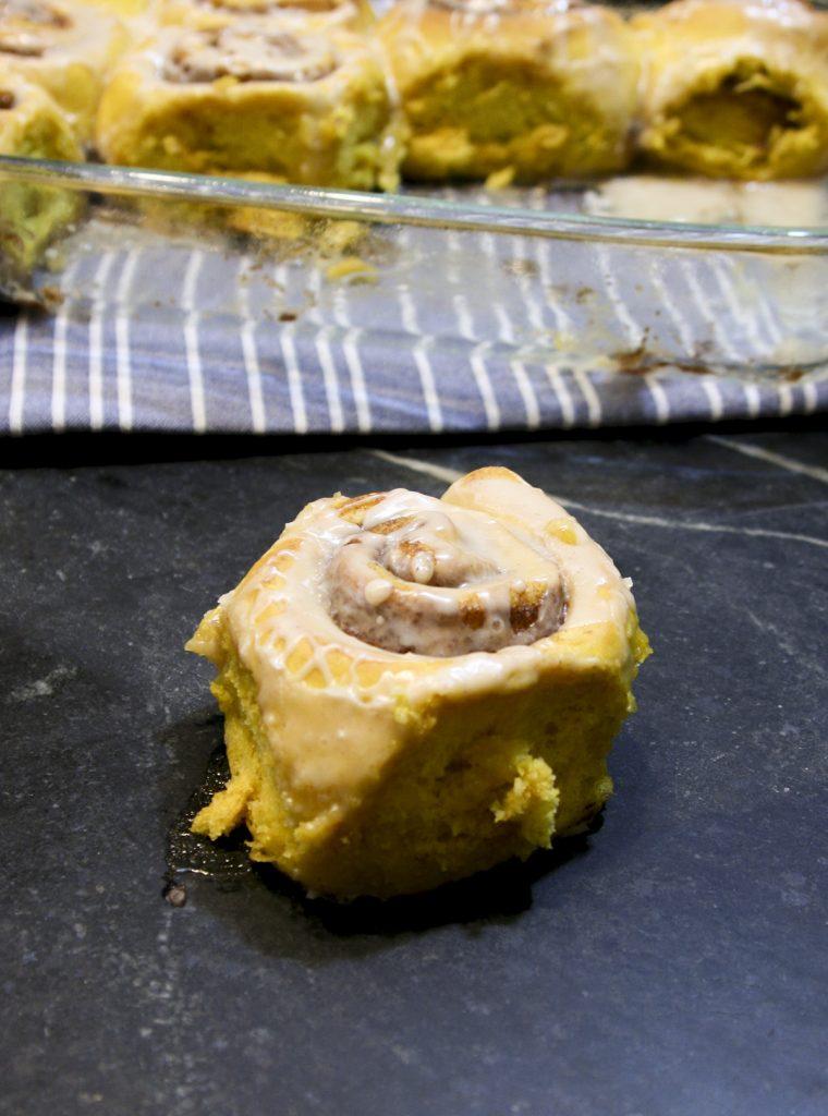 pumpkin spice cinnamon rolls